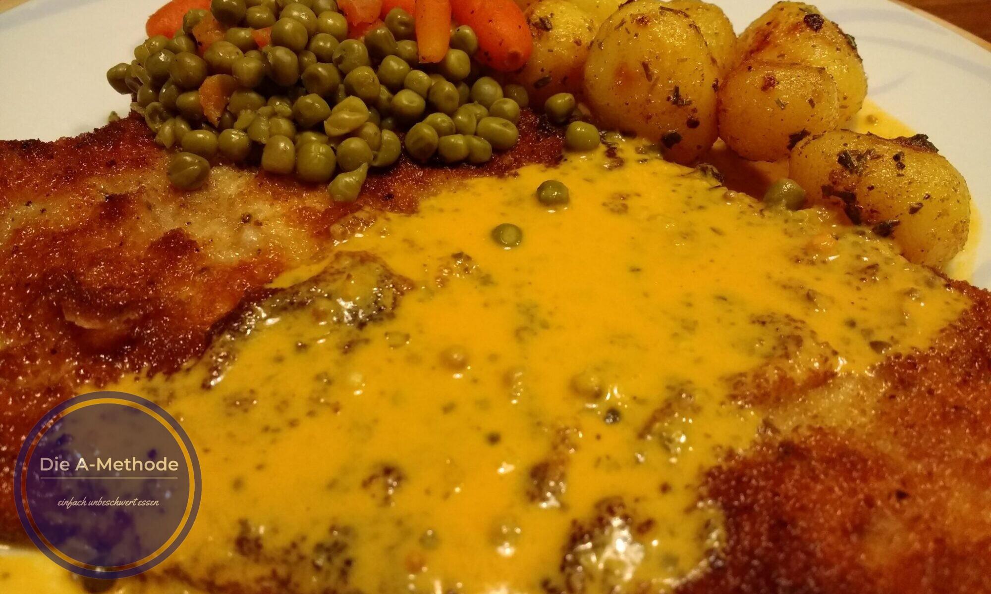 Schnitzel mit Pfeffersauce