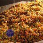 Gemüsebrühe zum Trocknen im Ofen
