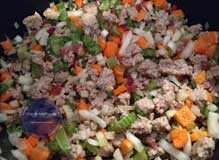 Gemüse für Ragu alle Bolognese